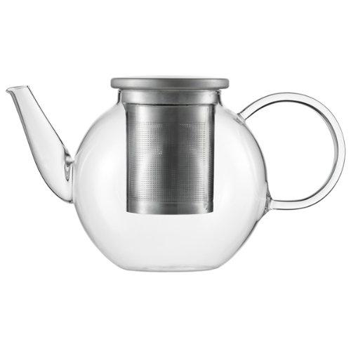 Jenaer glazen theepot, glas, 1 L, transparant, 1