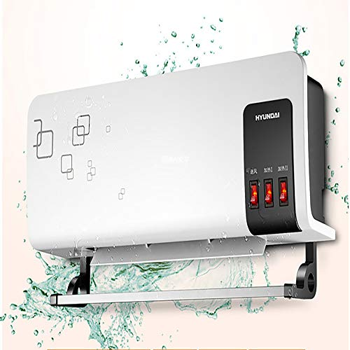 DIHAO Calefactor Split de Pared, Calentador de casa Calentador de baño 2000 W, cerámico, ventilacion Ahorro de energía y protección del Medio Ambiente Poco Ruido