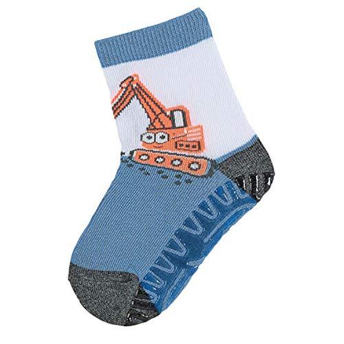 Sterntaler - baby jongens anti-slip sokken tegels flitzer, blauw graafmachine - 8021902