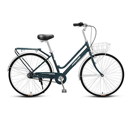 Bicicleta, Bicicleta de Viaje Diario, Bicicleta de Ocio Interior de 5 Velocidades, Ruedas de 26 Pulgadas, Marco de Marco de AleacióN de Aluminio de Bajo Alcance, para Adultos/Adolescentes