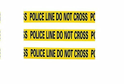 Yellow Police Line Do Not Cross - Crime Scene Caution Tape - 20 foot Roll - Halloween decor and cops and robbers party supplies