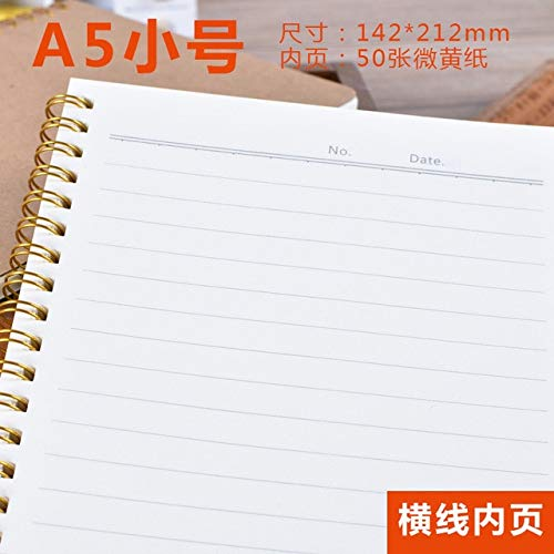 1 stks Notebook A5 Dagboek Medium Kraft Papier Grid Point Blank Dagelijks Wekelijks Plan Book School benodigdheden A5 lijn 1 stks
