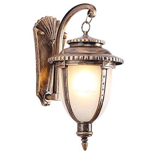 WANQINV Lámpara de pared para exteriores, estilo clásico, luz de estilo europeo de villa, linterna de jardín, impermeable y a prueba de herrumbre, adecuada para aceras, luces de terraza de patio, ilum