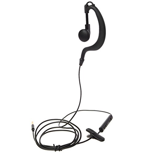 yaonow 3,5 mm Klinke Single In-Ear Headset nur Mono Kopfhörer mit Mikrofon für iPhone Samsung