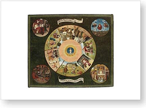 """""""Mesa de los Pecados Capitales"""", impresión oficial del Museo del Prado"""