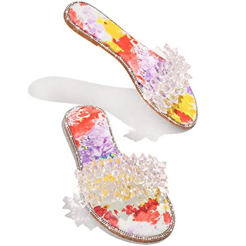 BLANSHAN Sandalias ortopédicas para mujer, sandalias planas, impermeables, de secado rápido, elegantes, cómodas, informales, para el hogar, para interiores y exteriores, rojo, negro, beige