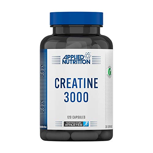 Applied Nutrition Creatine 3000, Creatine Monohydrate Supplement 3000mg Per Serving, High Strength, Increases Physical Performance - 120 Capsules