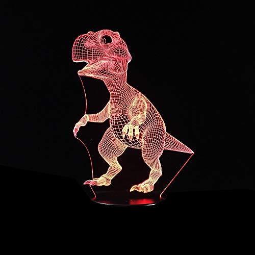 Jiushixw 3D-nachtlampje van acryl, met afstandsbediening, kleur tafellamp, dinosaurus, diermotief, voor kinderen, kinderen, kinderen, cadeau, drop, grote tafel
