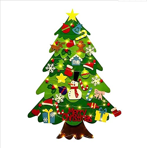 Set di albero di Natale fatto a mano, decorazione per bambini, ornamenti per porte di Natale