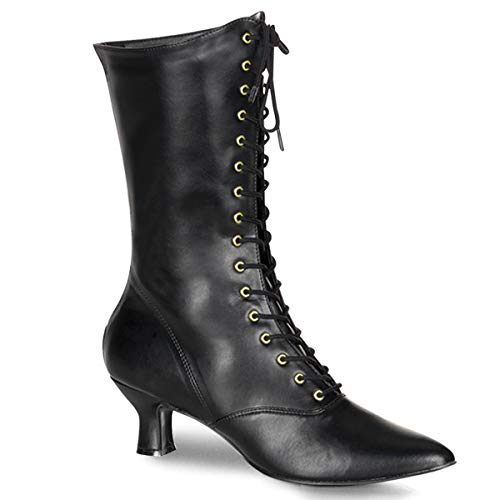 Higher-Heels Funtasma Renaissance-Stiefel Victorian-120 Mattschwarz Gr. 37