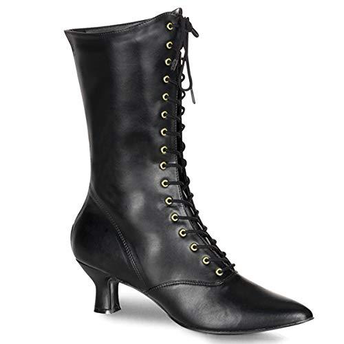 Higher-Heels Funtasma Renaissance-Stiefel Victorian-120 Mattschwarz Gr. 39