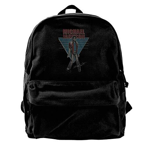 N / A Michael Jackson Vintage Paket Leinwand Rucksack Klassische Schwarze Schultasche Schüler Gehen Zur Arbeit