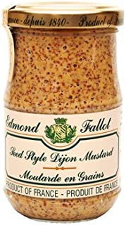 Grain Mustard Fallot French Dijon old fashioned mustard Mustard-7oz jar, One