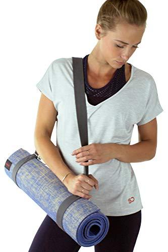 Großes Anti-Rutsch-Thick Jute Eco Yoga-Matte mit Bügeln von Sundried®