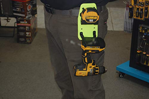 Tape Measure Holder with Cordless Drill Hanger - for DeWALT, Milwaukee, Makita & Other Popular Brands
