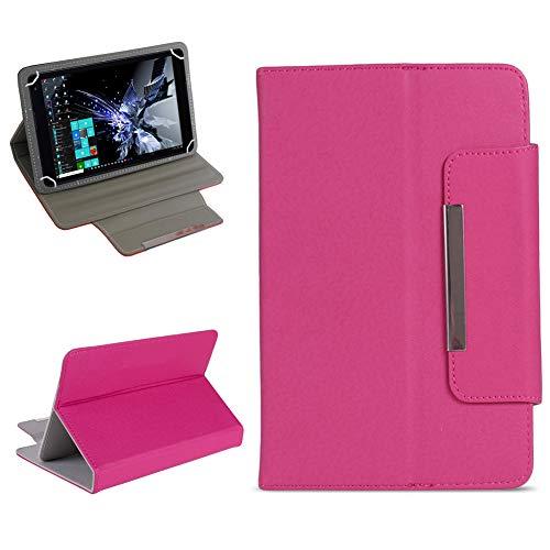 NAUC Tablet Tasche für TrekStor Surftab Breeze 7.0 Hülle Schutzhülle Case Cover Etui, Farben:Pink