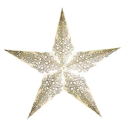 Papieren ster wit met accessoires, papieren ster pax wit, kerstster verlicht, kabel wit, kerstster decoratieve lamp, raamdecoratie woondecoratie, vouwster cadeau-idee