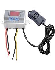 Controlador de Humedad Digital, XH-W3005 Controlador de Interruptor de higrómetro Digital Sensor de Humedad 0~99% HR 12 V / 24 V / 220 V, Arriba y Abajo de Dos Botones