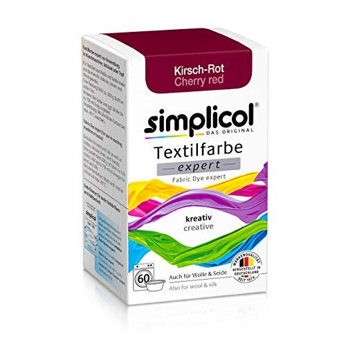 Simplicol Textilfarbe expert Kirsch-Rot 1704: Farbe für kreatives, einfaches Färben in der Waschmaschine oder manuell