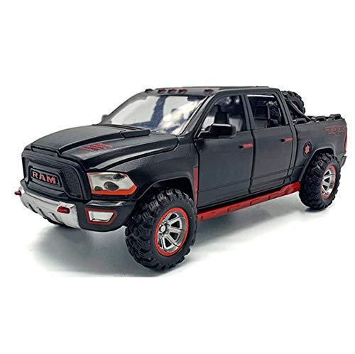 LTWAAXP 1:32 Alloy Car Model TRX-Pickup Metal Car Model Sound and Light Pull Back Boy Toy Car Gifts-Black