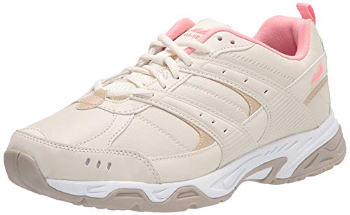 Avia womens Avi-verge Sneaker, Birch/Frosted Almond/Strawberry Cream, 9.5 Wide US