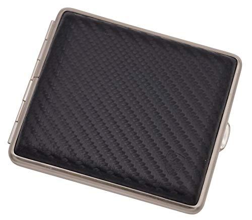 GERMANUS Zigarettenetui, Made in Germany, Carbon Optik, schwarz, 85 mm