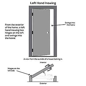 """National Door Company ZA00232 Steel, Primed, Right Hand Inswing, Exterior Prehung Door, Clear Glass Internal Blinds, 1/2 Lite with Pet Door, 32""""x80"""""""