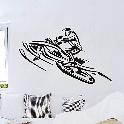 Calcomanía de vinilo Moto de nieve Barco a motor deportes extremos surf niño dormitorio tienda club decoración del hogar sala de estar diy pared pegatina de pared arte mural cartel