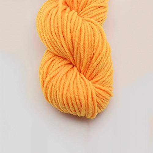 XINSHENG Store 25G Dicke gefärbte Garn weich Baumwoll-Mischwolle Anti-Pile Häkeln Schal Pullover Blanket Strickfaden (Farbe : 6)
