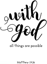 """With God all things are possible: Bible Verse Quote Weekly Daily Monthly Planner 2018  8.5"""" x 11"""" Calendar Schedule Organi..."""