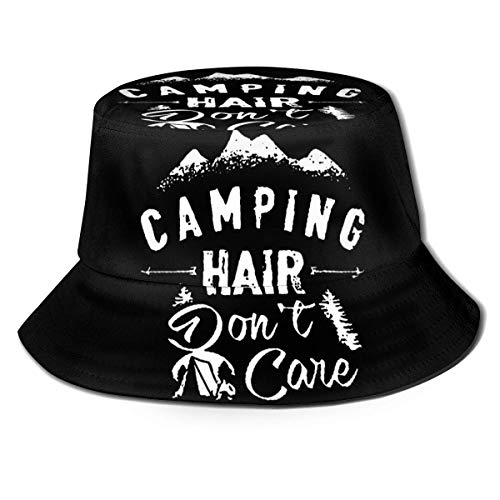 GOSMAO Camping Hair Don't Care Fisherman Hats Hombres Mujeres Rollable Summer Travel Bucket Beach Sun Cap