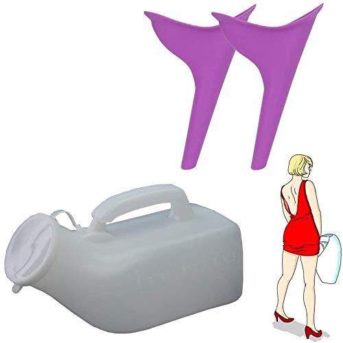 Marilia Weiches Silikon-Urinal in Trichterform (lila)