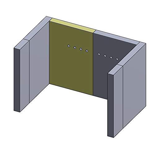 Flamado Feuerraumauskleidung Rückwandstein geeignet für Links/Rechts Mit Bohrung passend für Wamsler Kamin Ersatzteile Kaminofen Brennraumauskleidung Schamotte 320 x 217 x 30 mm 1.350°C