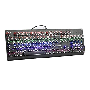 E-YOOSO K600 Retro Mechanical Gaming Keyboard 104 Key, LED Backlit Keyboard Blue Switches(Retro)
