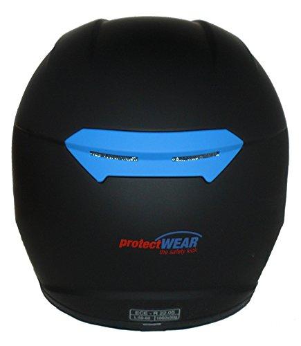 Protectwear Motorradhelm V121-BL schwarz-blau matt – M - 3