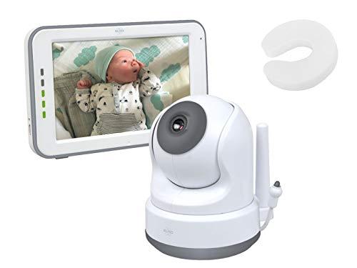 Babyfoon met draaibare HD-camera, touchscreen & smartphone-app + extra deurstopper