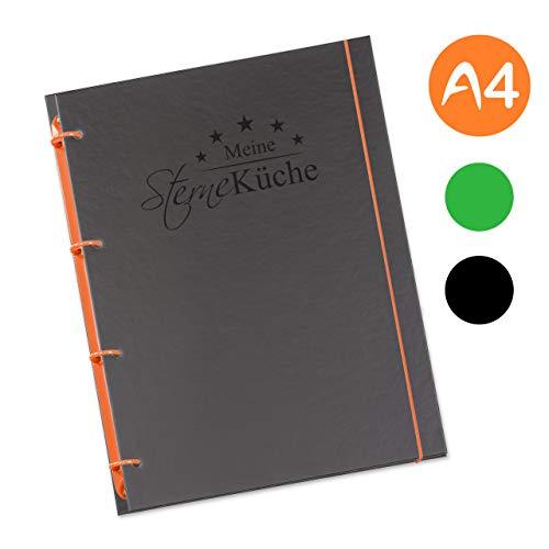flexiNotes KOCHBUCH A4 zum Selberschreiben mit Register, Typ: Sterneküche, Orange