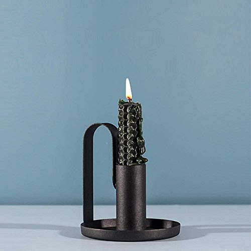 Candle Holder Candelabro cónico Retro a Prueba de óxido candelabro de Hierro...