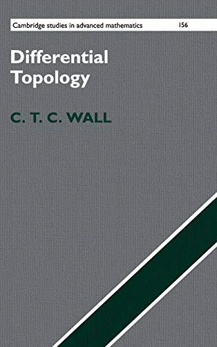 Differential Topology (Cambridge Studies in Advanced Mathematics)