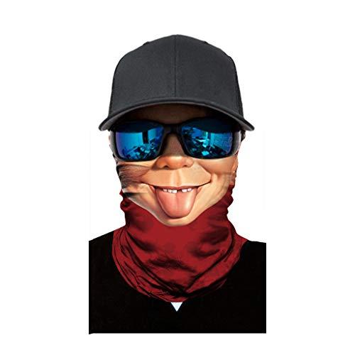 cinnamou Multiunktionstuch Maske Schal Kälteschutz Gesichtsmaske Fishing Totenkopf Schal Skull Bandana Gesichtsmaske Halstuch Ski Motorrad Paintball Halloween Maske (25CM X 50CM, K)