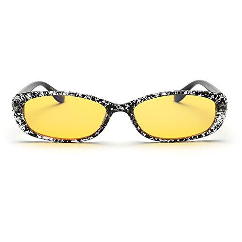 LOMOL Womens Fashion Cute Oval Anti-Blue Light Radiation Protection Night Vision Small Driving Sunglasses(C2)