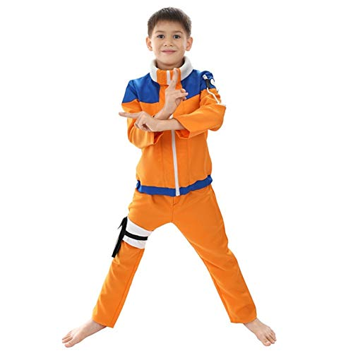 Ephemeral Naruto Bambini Come Costumi di Cosplay Disguise Halloween Fantasia Costume Party casa Naruto for Bambini Loikktg (Size : 120)