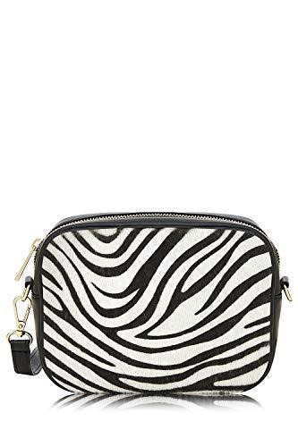 Montte De Jinne Italian Leather Zebra Print Bag