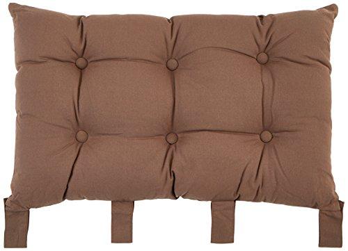 Enjoy Home 2007CHTL070045 - Testiera da letto in tessuto, 56x32x9 cm, Tessuto, Marrone