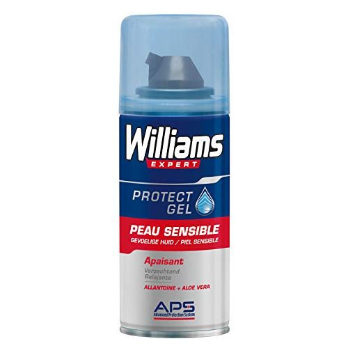 Williams Mini Gel à Raser Peau Sensible, Apaisant, Testé Dermatologiquement, 75ml