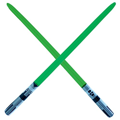 2 Premium - Green Single Blade Inflatable Light Saber Swords, Lightsaber, Party, Gift, Action Play, Blow Up Luke Yoda lightsaber (Green 1-blade)