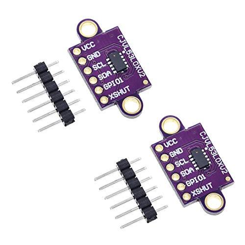 Onyehn 2pcs VL53L0X Time-of-Flight (ToF) Laser Ranging Sensor Breakout 940nm GY-VL53L0XV2 Laser Distance Module I2C IIC