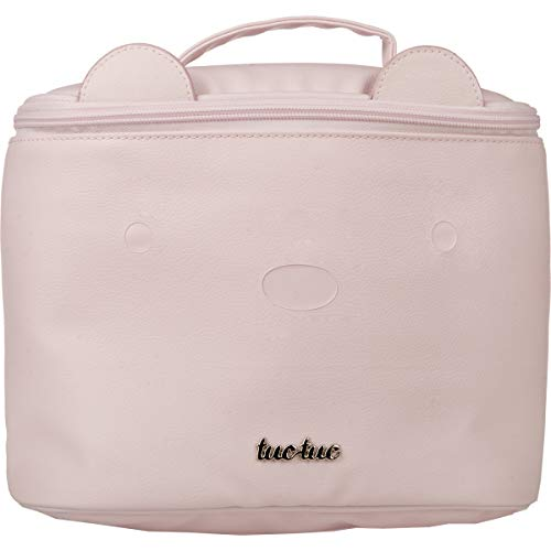 Tuc Tuc Brioche - Neceser redondo de polipiel, color rosa