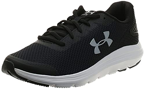 Under Armour Surge 2, Zapatillas para Correr de Carretera Hombre, Black/White/Mod Gray (001), 43 EU