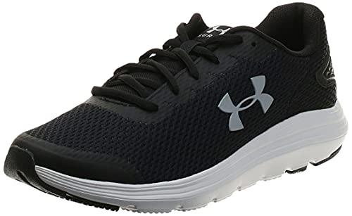 Under Armour Men's Surge 2 Running Shoe, Black (001)/White, 11